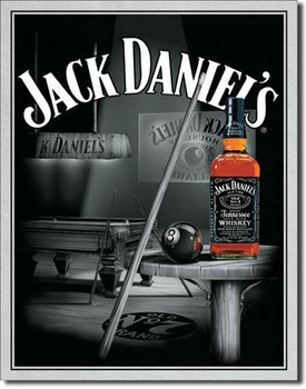 Cartelli Pubblicitari in Metallo JACK DANIEL'S  POOL HALL