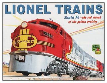 Cartelli Pubblicitari in Metallo Lionel Santa Fe