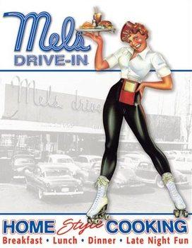 Cartelli Pubblicitari in Metallo Mels Diner - Car Hop