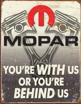 Cartelli Pubblicitari in Metallo Mopar - Behind Us