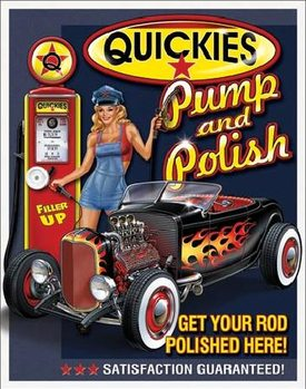 Cartelli Pubblicitari in Metallo QUICKIES - Pump & Polish