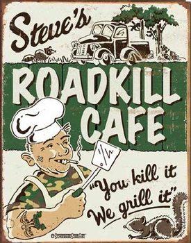 Cartelli Pubblicitari in Metallo SCHOENBERG - Steve's Cafe