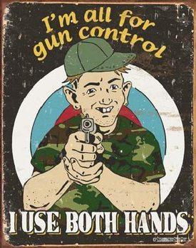 Cartelli Pubblicitari in Metallo SCHONBERG - Gun Control