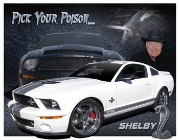 Cartelli Pubblicitari in Metallo Shelby Mustang - You Pick