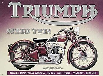 Cartelli Pubblicitari in Metallo TRIUMPH SPEED TWIN