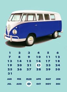 Cartelli Pubblicitari in Metallo VW KOMBI CALENDAR