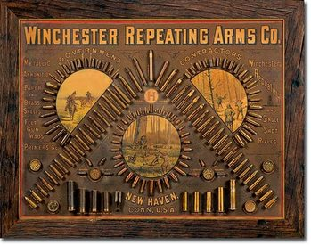 Cartelli Pubblicitari in Metallo Winchester - Repeating Arms