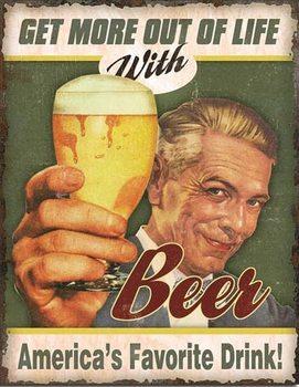Cartello in metallo Beer - America's Favorite