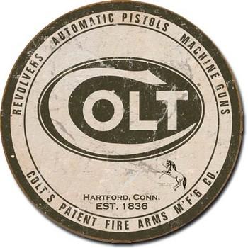Cartello in metallo COLT - round logo