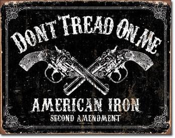Cartello in metallo DTOM - american iron