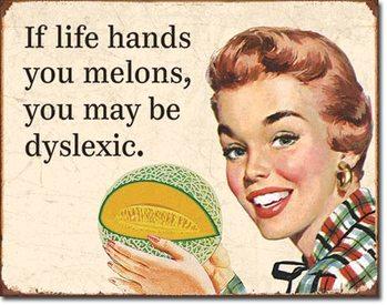 Cartello in metallo Dyslexic Melons