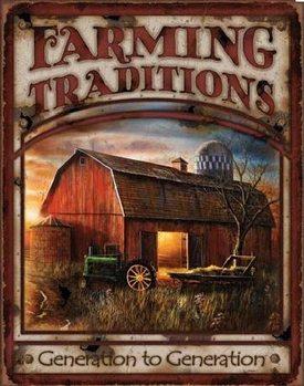 Cartello in metallo FARMING TRADITIONS