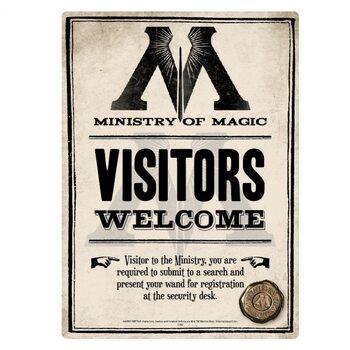 Cartello in metallo Harry Potter - Ministry Of Magic