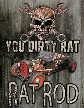 Cartello in metallo LEGENDS - dirty rat