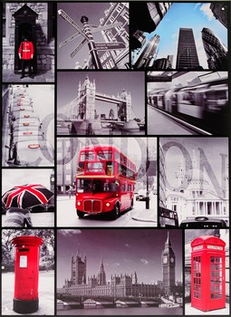 Cartello in metallo LONDON SIGN