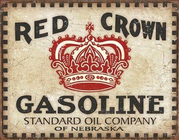 Cartello in metallo Red Crown - Checker