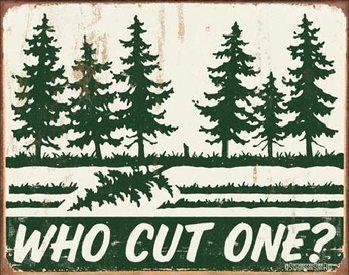 Cartello in metallo SCHONBERG - Who Cut One?