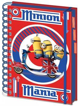 I Minion (Cattivissimo me) - British Mod Red A5 Project Book Cartoleria