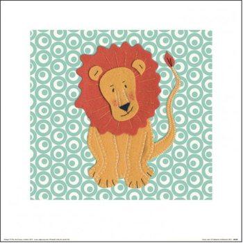 Catherine Colebrook - Fuzzy Lion Festmény reprodukció