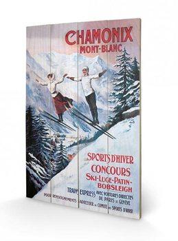 Bild auf Holz Chamonix Mont-Blanc