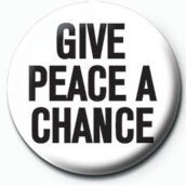 Chapitas JOHN LENNON - give peace a chance