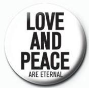 Chapitas JOHN LENNON - love and peace