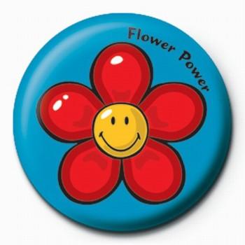 Chapitas Smiley World-Flower Power