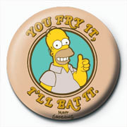 Chapitas THE SIMPSONS - homer fry it