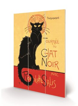 Poster su legno Chat Noir