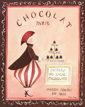 Chocolat, Paris Festmény reprodukció