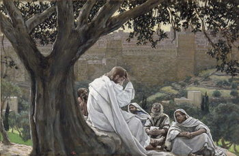 Christ Foretelling the Destruction of the Temple, illustration for 'The Life of Christ', c.1886-94 Festmény reprodukció