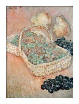 Claude Monet - The Basket of Grapes, 1884 Poster encadré avec lamination