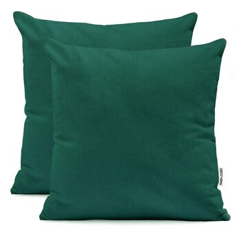 Fundas de almohada Amber Battle Green