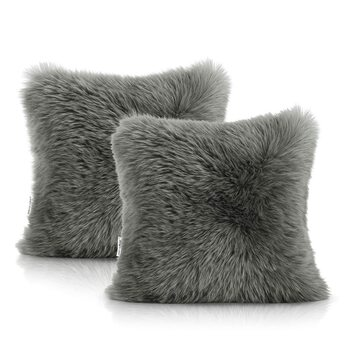 Fundas de almohada Amelia Home - Dokka Dark Grey