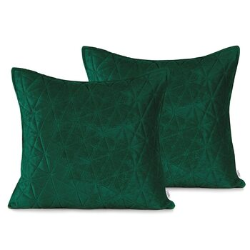 Fundas de almohada Amelia Home - Laila Bottlegreen + Jadegreen