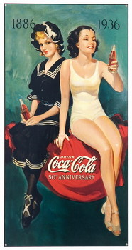 COKE BATHING BEAUTIES Metalplanche