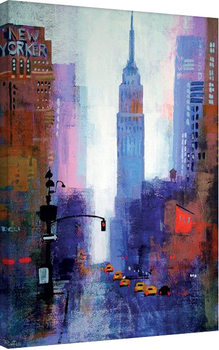 Plagát Canvas Colin Ruffell - Manhattan Empire State