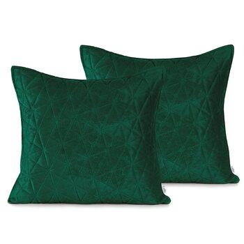 Les taies d'oreiller Amelia Home - Laila Bottlegreen + Jadegreen