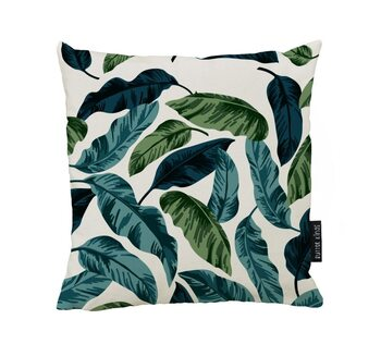 Coussin Blue and Green Leavs