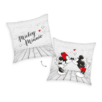Coussin Topolino (Mickey Mouse) & Minnie - Kiss