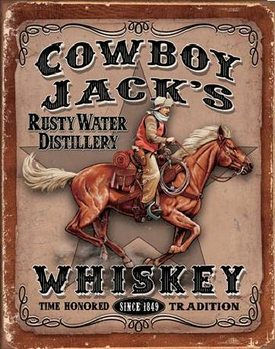 COWBOYS JACK'S - Whiskey Metalen Wandplaat