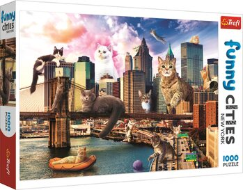 Sestavljanka Crazy City - Cats in New York