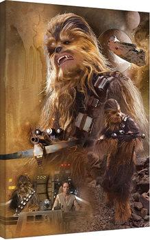 Vászon Plakát Csillagok háborúja VII (Star Wars: Az ébredő Erő) - Chewbacca Art