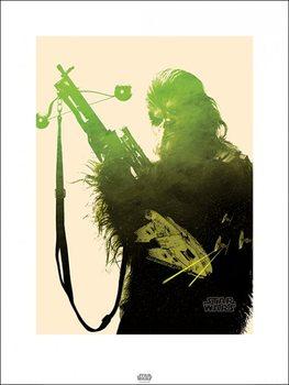 Csillagok háborúja VII (Star Wars: Az ébredő Erő) - Chewbacca Tri Festmény reprodukció
