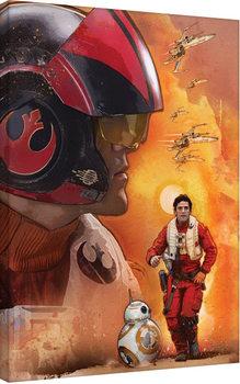 Vászon Plakát Csillagok háborúja VII (Star Wars: Az ébredő Erő) - Poe Dameron Art
