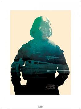 Csillagok háborúja VII (Star Wars: Az ébredő Erő) - Poe Tri Festmény reprodukció