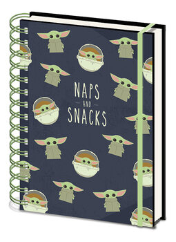Star Wars: The Mandalorian - Snacks and Naps Cuaderno