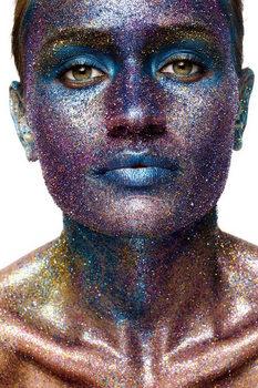 Cuadro en vidrio Art Woman - Statue of Face