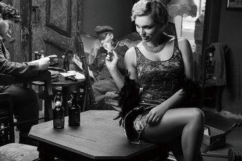 Cuadro en vidrio Café - Sitting Woman