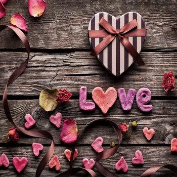Cuadro en vidrio Love - Be Romantic
